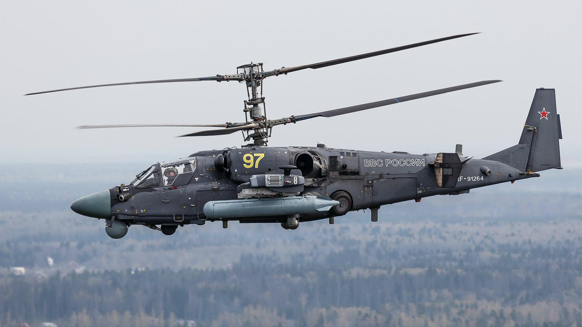 Обои ударный, российский, «аллигатор», Ка-52. Авиация foto 12